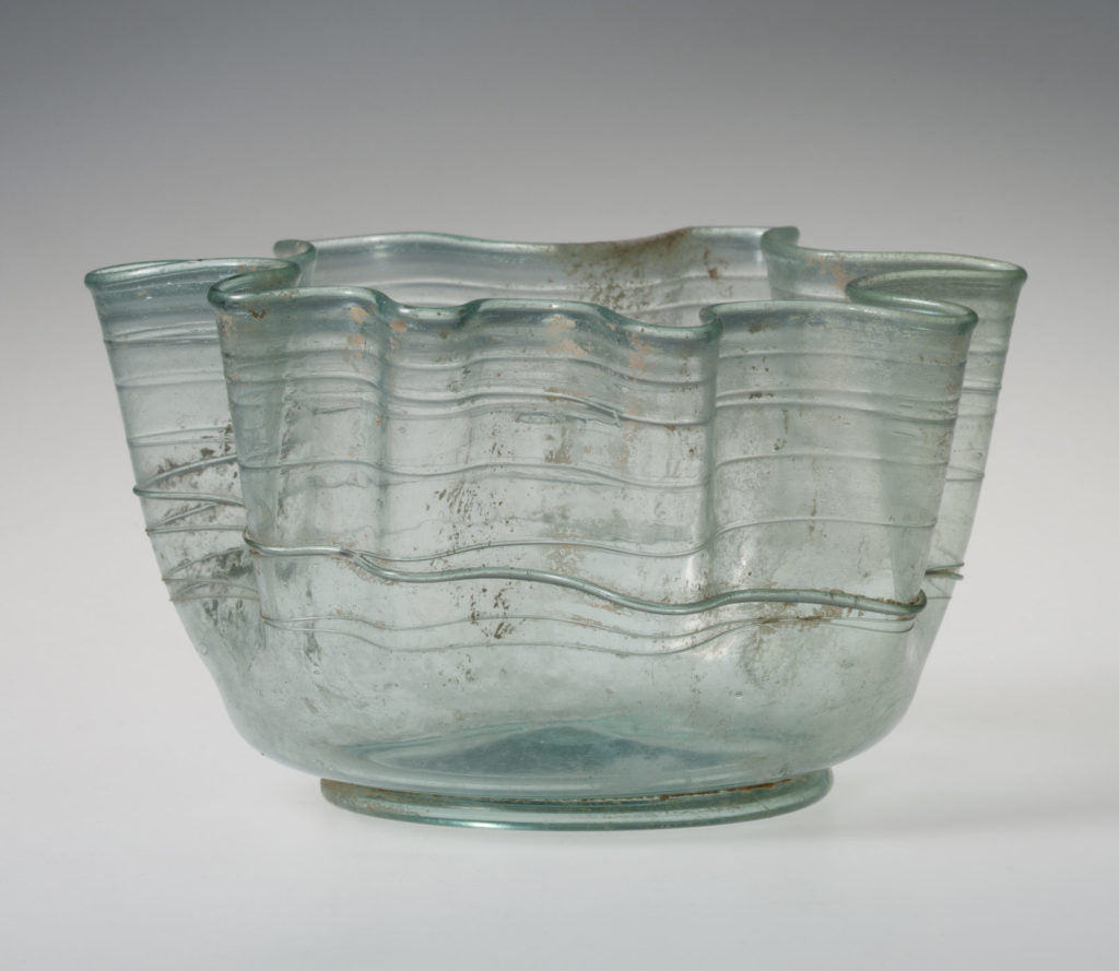 Ancient Roman Glass Handkerchief Bowl