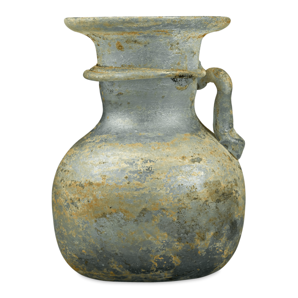Ancient Roman Glass Jar with Handle