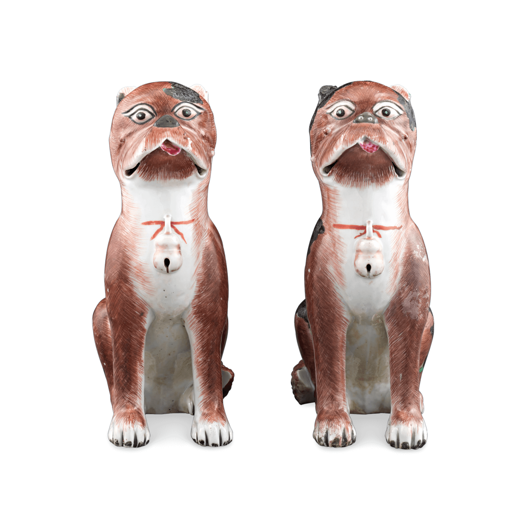 Porcelain Chinese Pug Dogs