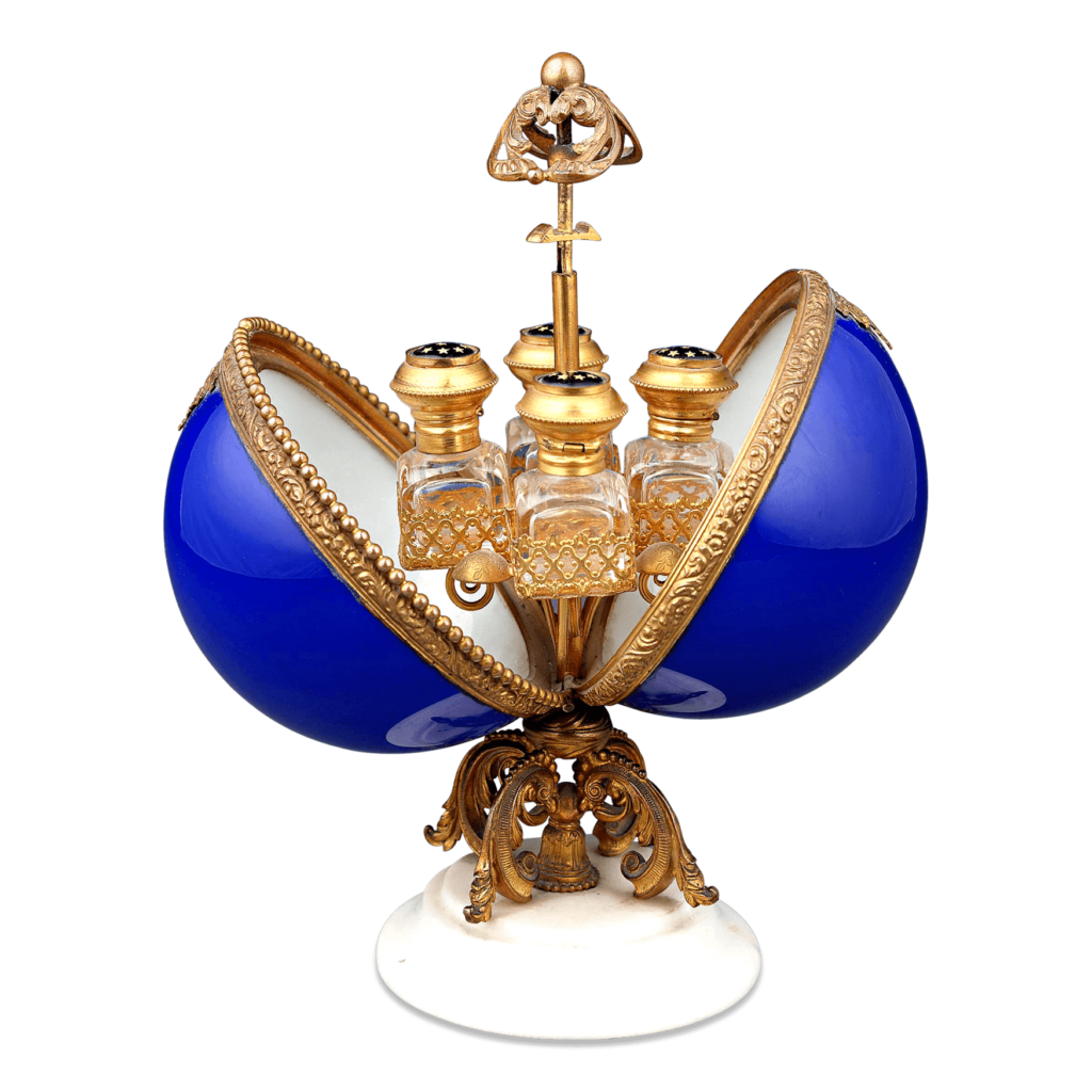Louis XV-Style Opaline Glass Perfume Suite