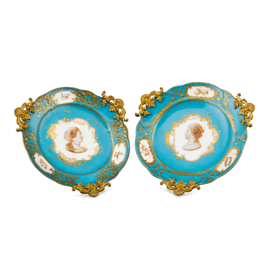 Sèvres Porcelain and Ormolu Compotes