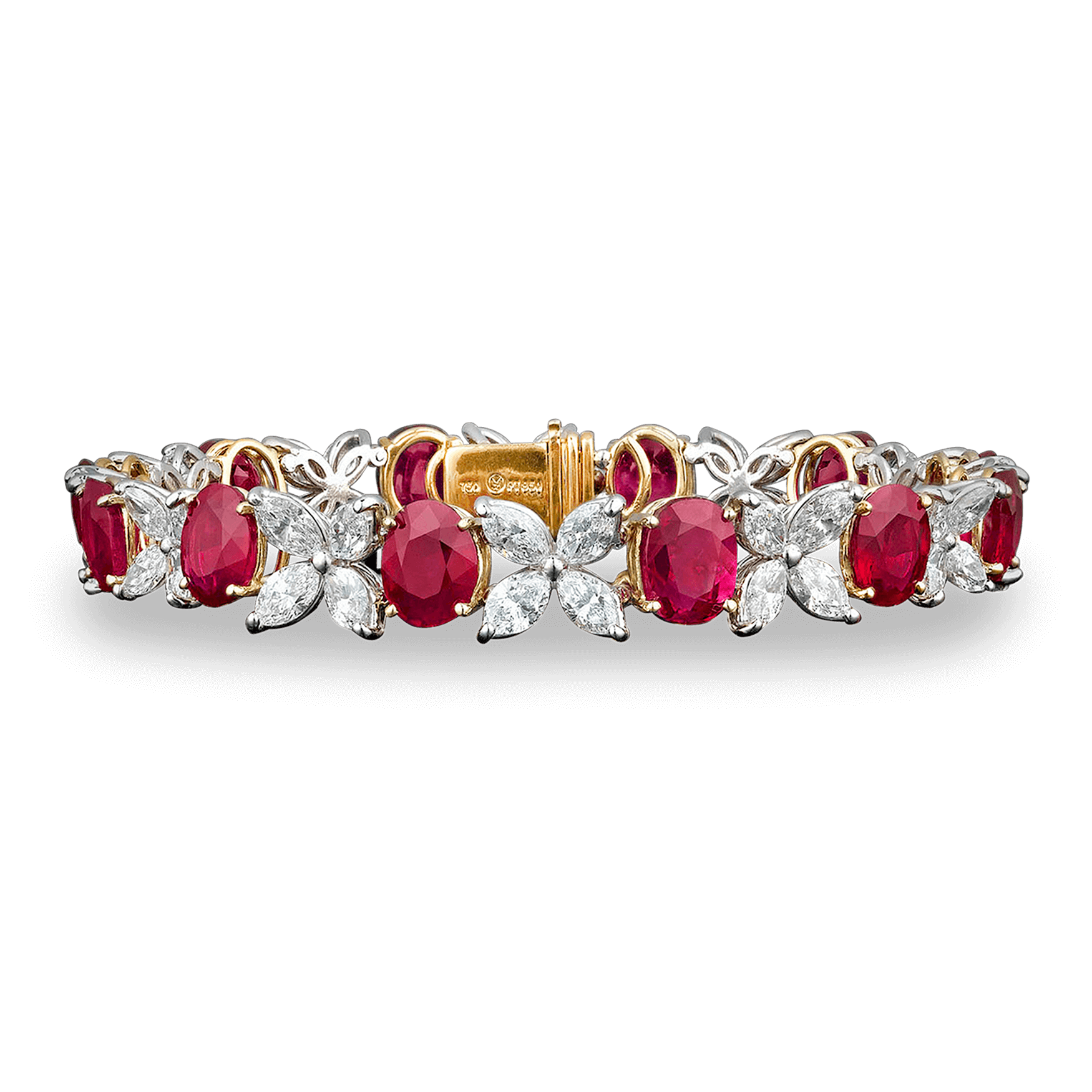 Burma Ruby and Diamond Bracelet