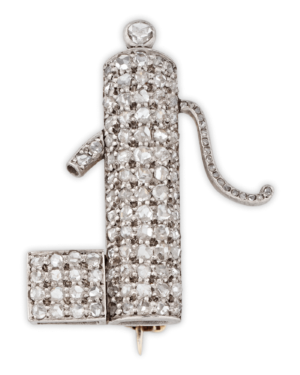 Show your love for New Orleans cocktails on your lapel with this Art Deco Diamond Cocktail brooch!