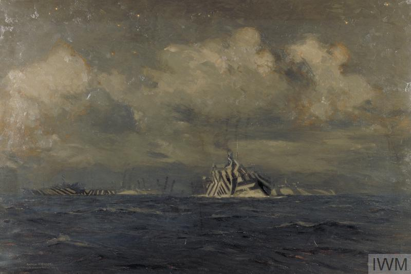 Dazzled Ships at Night by Norman Wilkinson