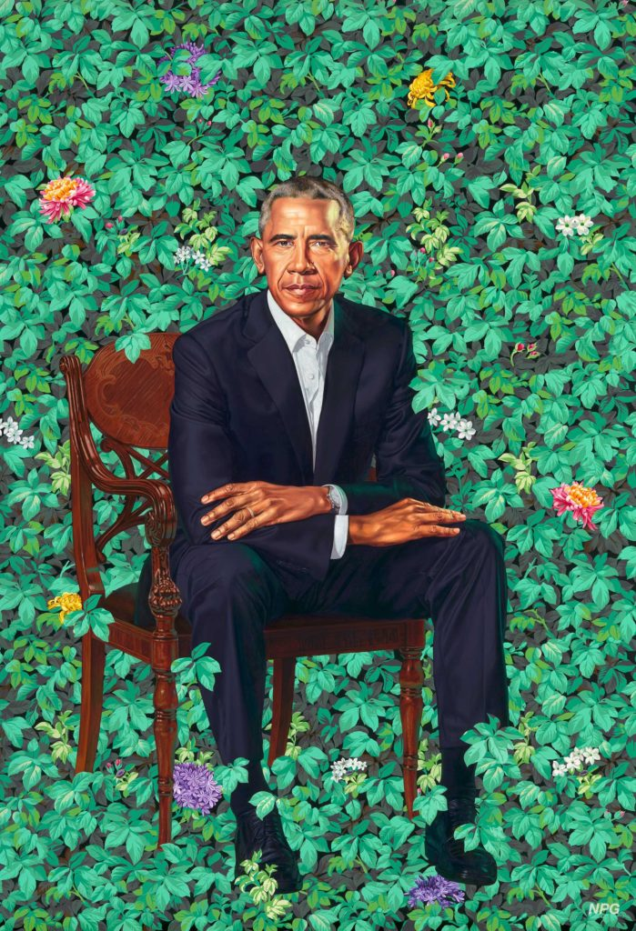 President Barack Obama by Kehinde Wiley. Oil on canvas, 2018. National Portrait Gallery, Washington D.C.