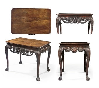 This Irish George II center table sold in 2008 for over three-times it's original estimate range. This trend has lasted over 15 years and is a testament to the importance and rarity of quality Irish furniture.