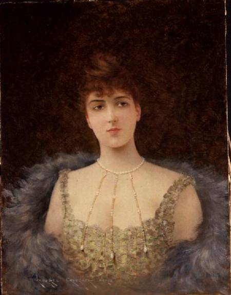 Portrait of an Auburn-Haired Woman.