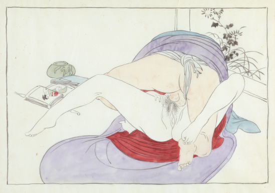 "Japanese Shunga, ""Man and Woman Making Love,"" Taisho Period, Circa 1922."