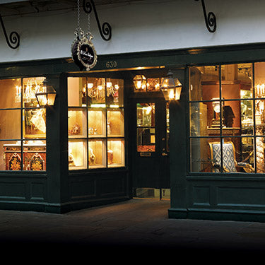 M.S. Rau Antiques, 630 Royal Street in the heart of New Orleans' historic French Quarter