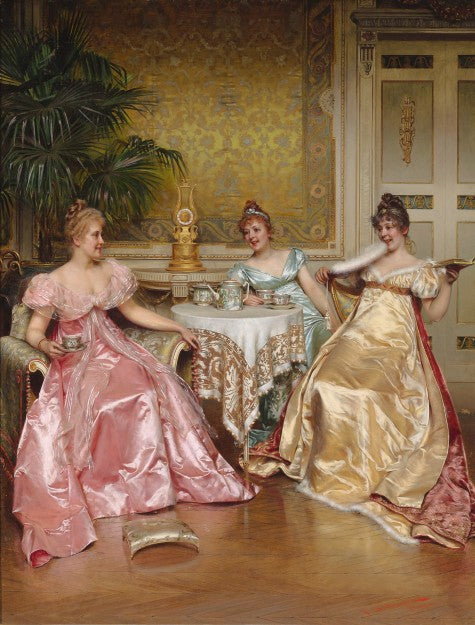 Afternoon Tea for Three by Charles-Joseph-Frédéric Soulacroix.