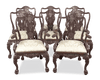 These exceptional Victorian dining chairs exhibit a stunning George II-style design