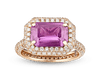 Pink Sapphire and Diamond Ring, 2.95 Carats