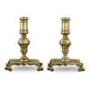 Early 18th-Century English Brass Candlesticks