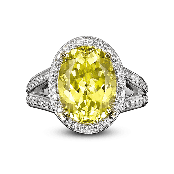 Canary Yellow Tourmaline Ring, 7.11 Carats