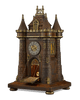 Medieval Castle Clock Garniture