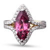 Red Spinel and Diamond Ring, 3.95 Carats
