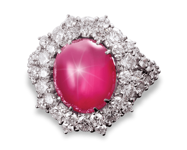 Untreated Star Ruby Ring, 11.07 Carats