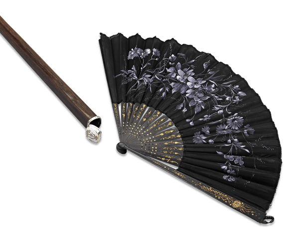 English Ladies' Fan Cane