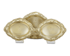 Tiffany & Co. Chrysanthemum Silver Gilt Oval Bowls