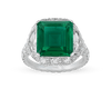 Untreated Colombian Emerald Ring, 4.17 Carats