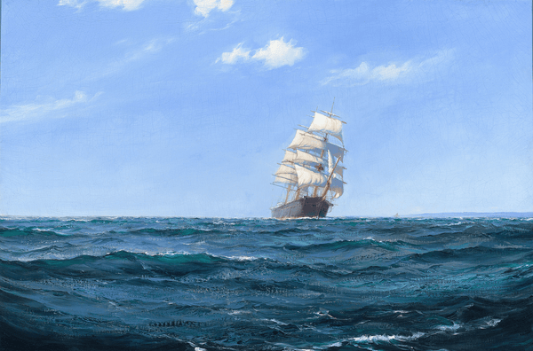 A Ship in Open Water by Montague Dawson