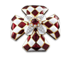 Ruby and Enamel Brooch by David Webb