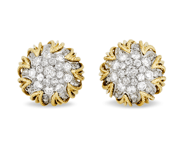 Gold and Diamond Earrings by Van Cleef & Arpels, 12.00 Carats
