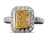 Fancy Yellow Diamond Ring, 2.25 Carats