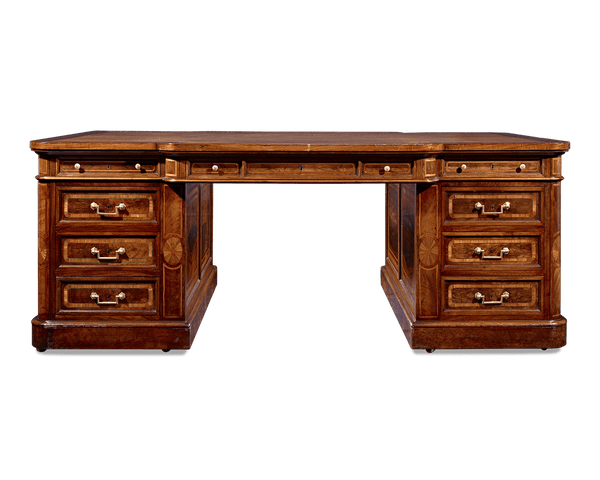 Mahogany Partner's Desk
