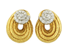 David Webb Diamond Swirl Earrings