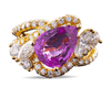 Pink Sapphire and Diamond Ring by Henry Dunay