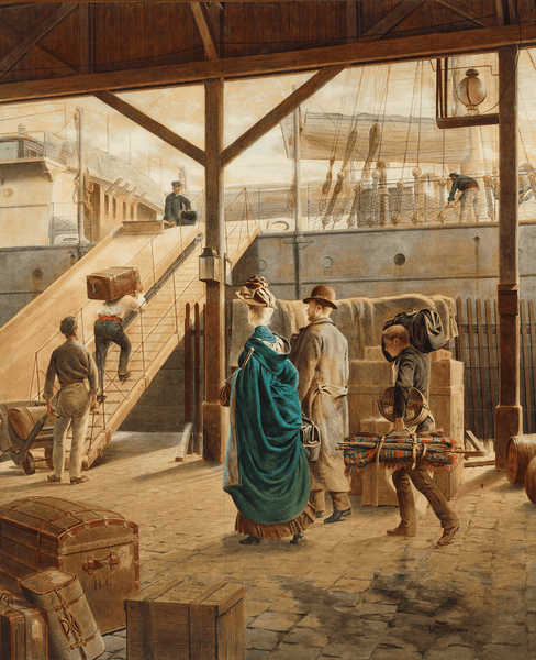 Boarding the Ship for New York by Auguste Loustaunau