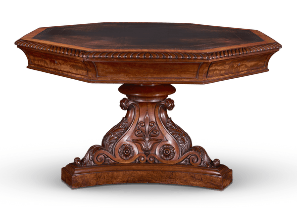 Revolving Octagonal Library Table Attributed to Gillows