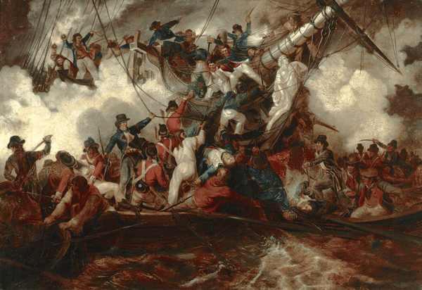 The Battle of Trafalgar attributed to Samuel Drummond