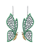 Diamond Butterfly Drop Earrings, 4.38 Carats