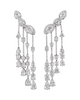 Ear Climber Diamond Earrings, 16.44 Carats
