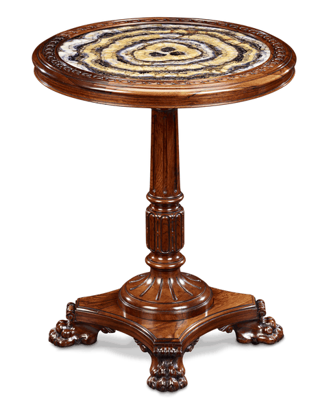 Blue John and Rosewood Table attributed to Gillows