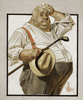 The Reluctant Golfer by Joseph Christian Leyendecker