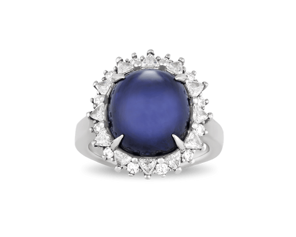 Cabochon Sapphire Ring, 11.72 Carats