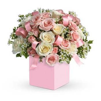 Pastel flower arrangements