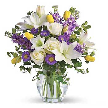 Iris flower arrangements