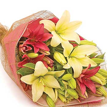 All Lily Bouquet in Mixed Colours