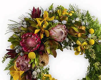 Traditional Australian Native Flower Funeral Wreath