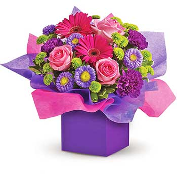 Send twin baby flowers gift box
