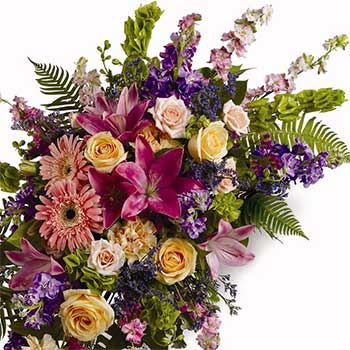 Colourful Mixed Flower Double Ended Casket Spray
