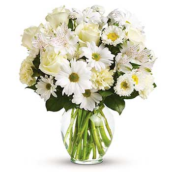 Classic Stylish White Bouquet in Vase