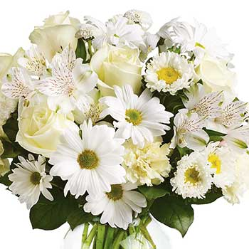 Order classic white bouquet in vase