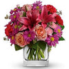 Order enchanting bright garden flowers
