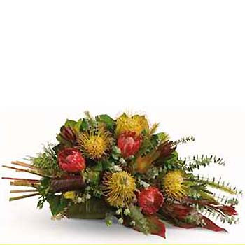 Order Australian native flower casket spray & ANZAC tribute