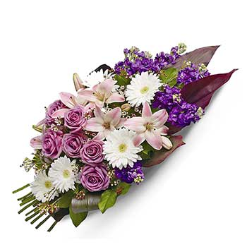 Buy heartfelt lavender sympathy sheaf